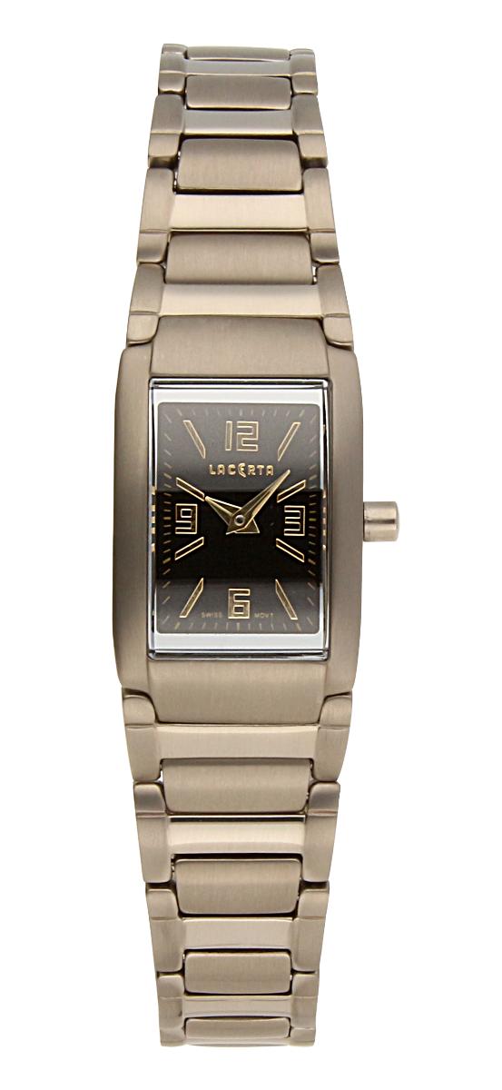 Titanové luxusní švýcarské ocelové hodinky Lacerta 751 C6 551 se safírovým sklem