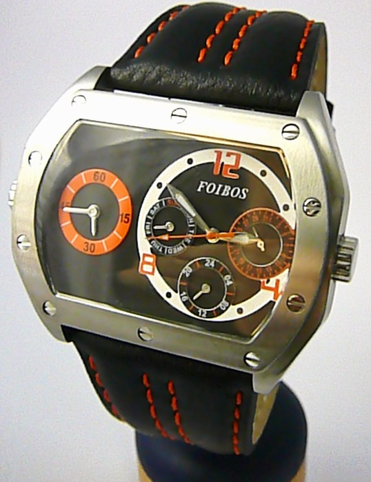 Mohutné pánské voděodolné hodinky Foibos 11323 chronograf - 5ATM