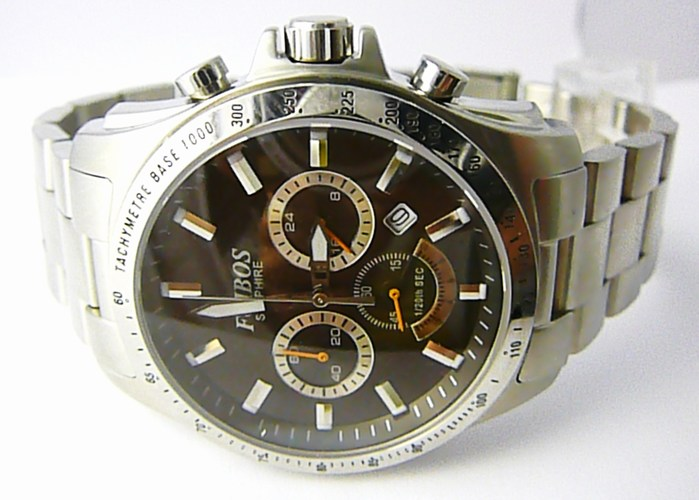 Mohutné pánské vodotěsné hodinky chronograph Foibos 1300 - 10ATM
