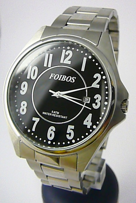 Čitelné ocelové pánské značkové voděodolné hodinky Foibos 3883.4 - 5ATM