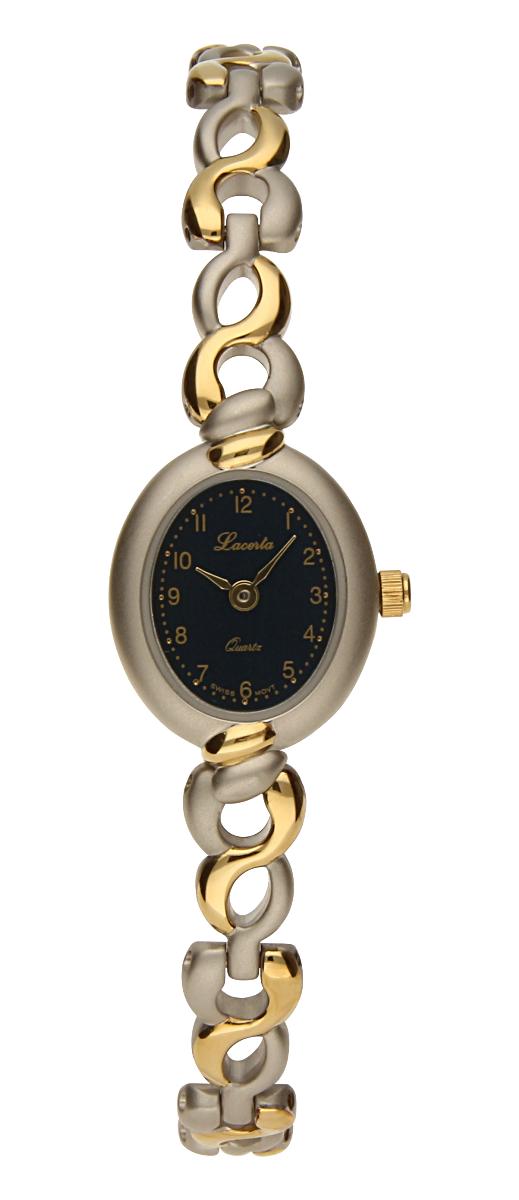 Šperkové švýcarské dámské hodinky Lacerta 751 237 23 pozlacené 3MIC