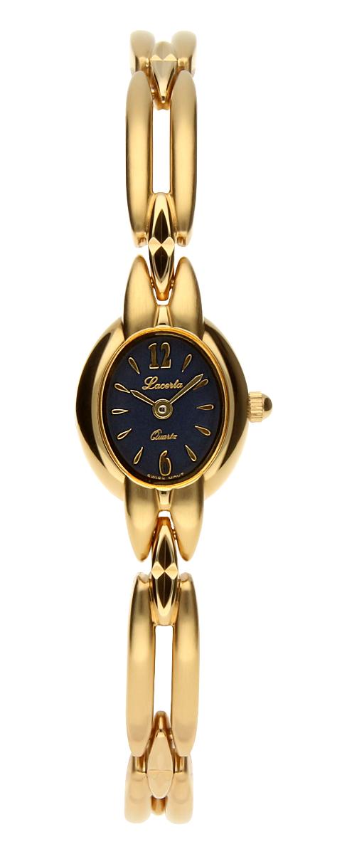 Šperkové švýcarské dámské hodinky Lacerta 751 273 78 pozlacené 3MIC