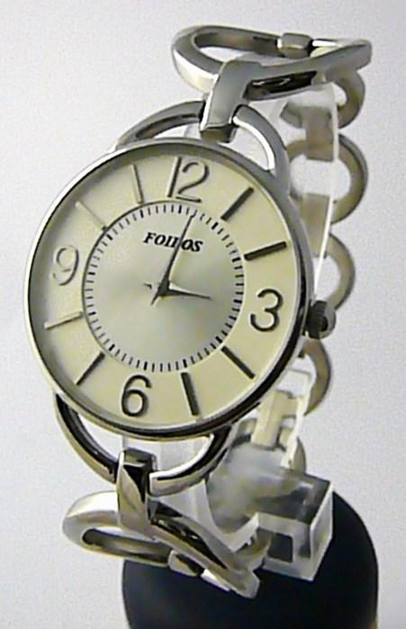 Dámské ocelové stříbrné čitelné přehledné hodinky Foibos 4580