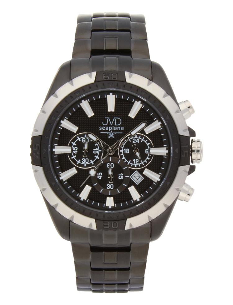 78309f3194d Černé vodotěsné odolné pánské nerezové hodinky JVD steel JA1913.2 s  chronografem POŠTOVNÉ ZDARMA!