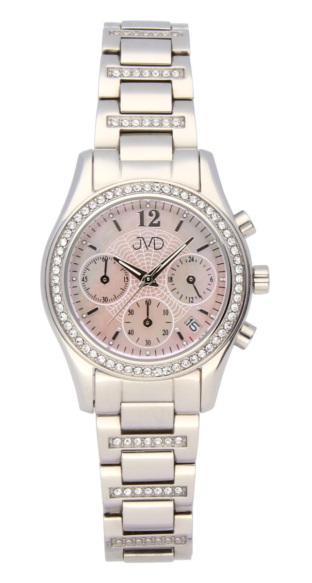 Luxusní šperkové dámské hodinky JVD JC130.1 s chronografem - voděodolné ( )