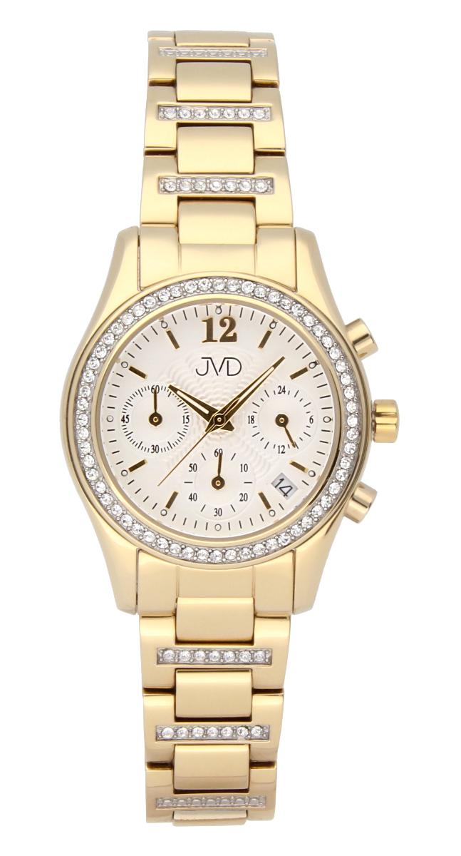 Luxusní šperkové dámské hodinky JVD JC130.2 s chronografem - voděodolné