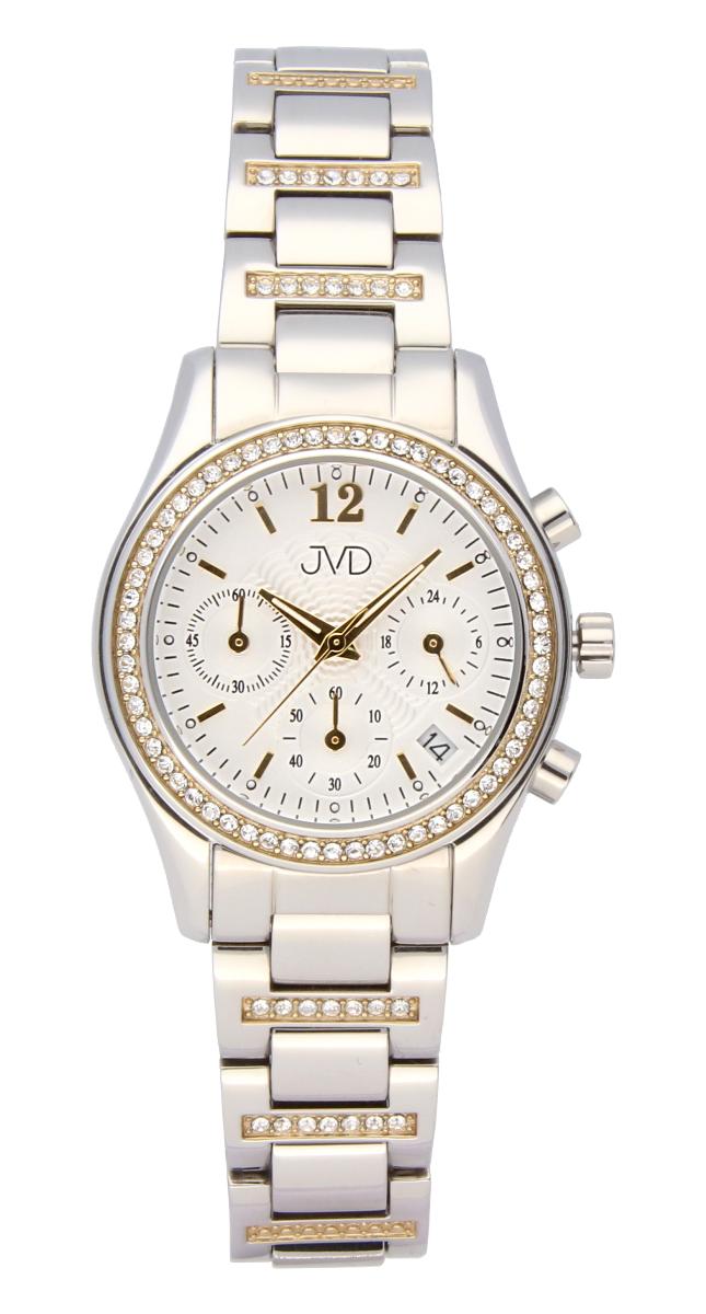 Luxusní šperkové dámské hodinky JVD JC130.3 s chronografem - voděodolné