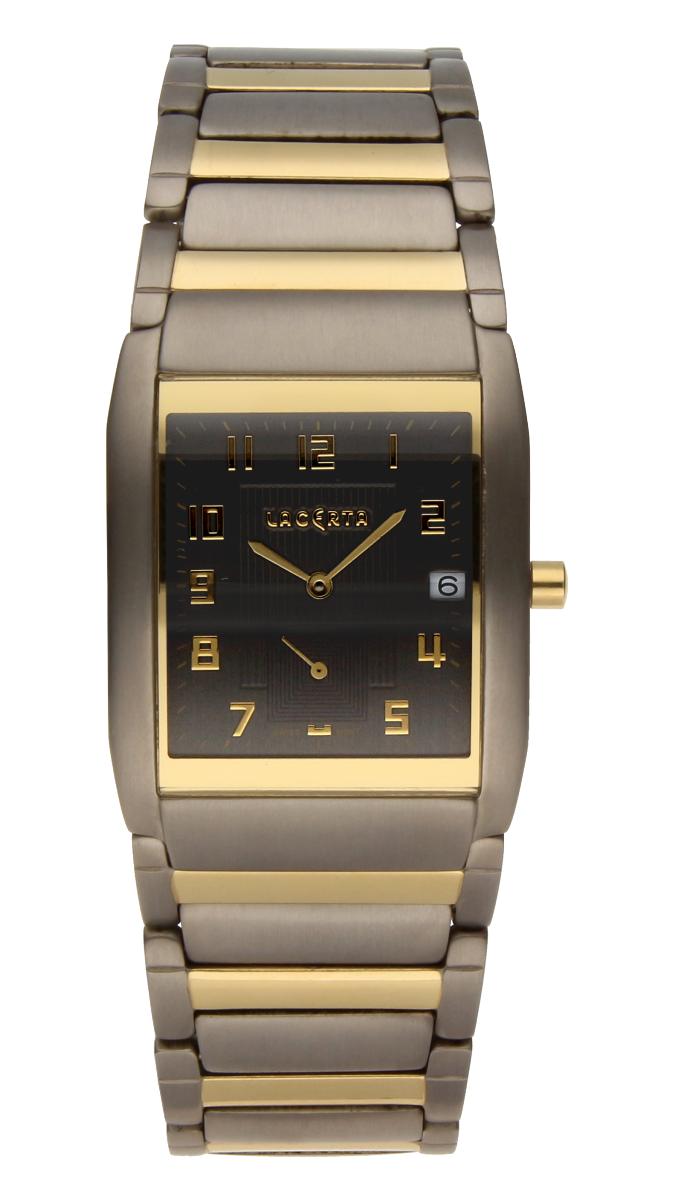 Luxusní pánské švýcarské titanové hodinky Lacerta 109 C7 553 se safírovým sklem