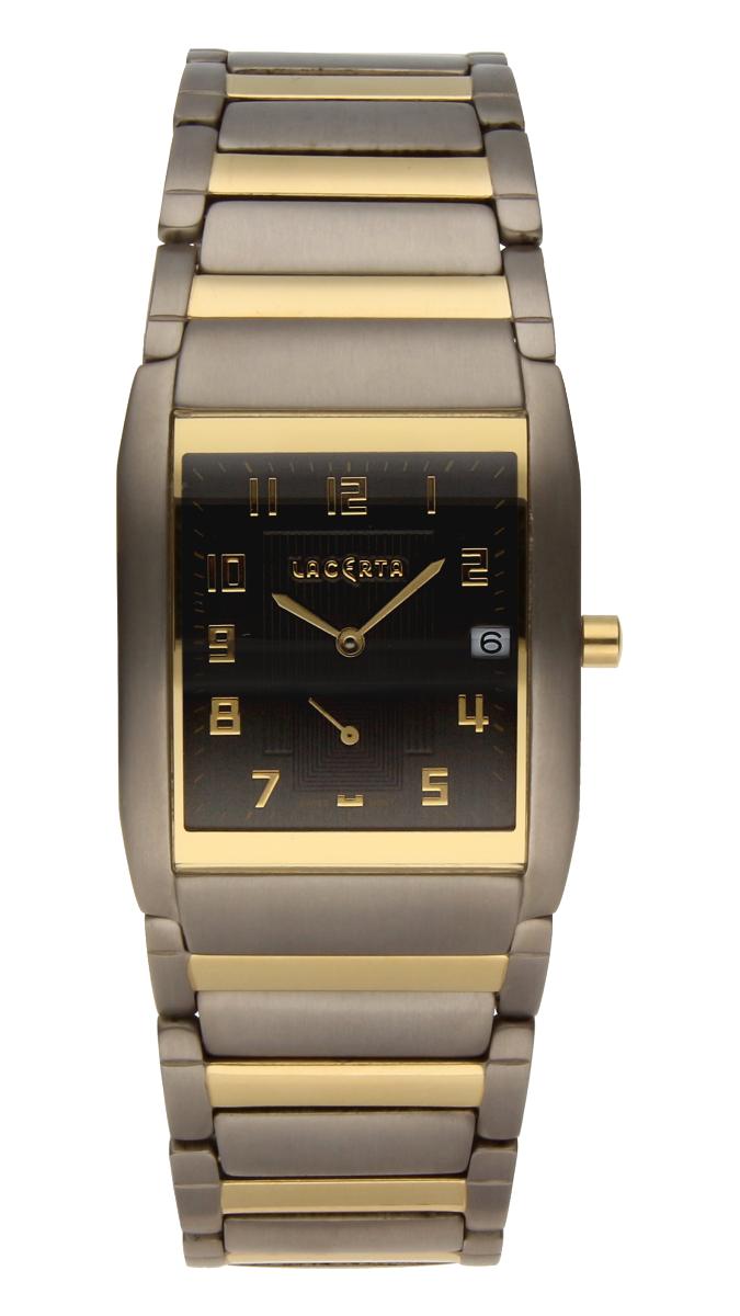Luxusní pánské švýcarské titanové hodinky Lacerta 109 C7 554 se safírovým sklem