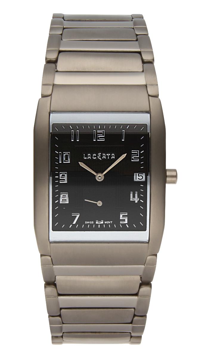 Luxusní pánské švýcarské titanové hodinky Lacerta 109 C9 553 se safírovým sklem