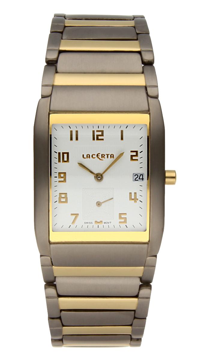 Luxusní pánské švýcarské titanové hodinky Lacerta 109 C7 552 se safírovým sklem