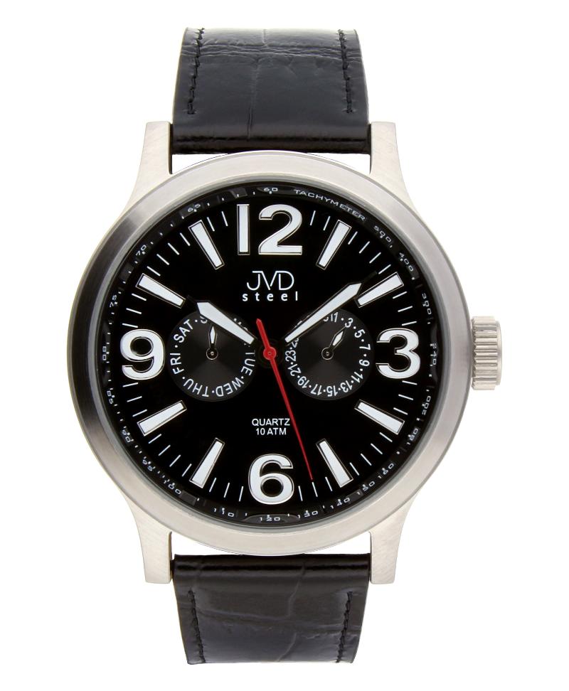 Luxusní pánské vodotěsné hodinky J1001.2 na kůži se safírovým sklem