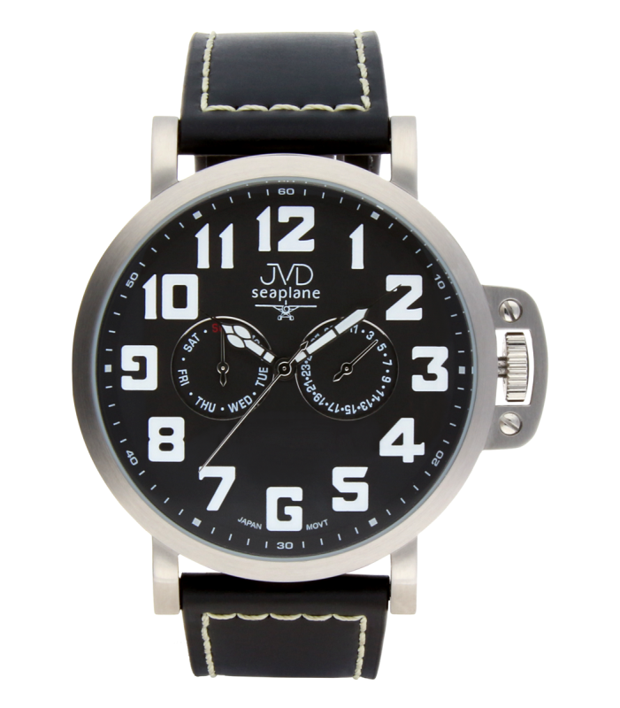 Luxusní pánské vodotěsné ocelové hodinky hodinky JVD Seaplane JA1323.1