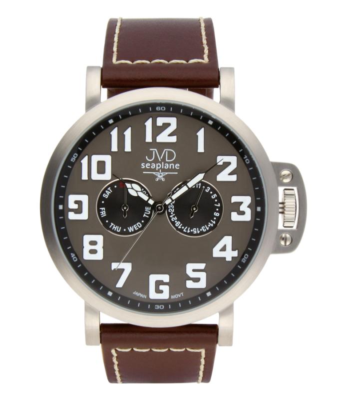 Luxusní pánské vodotěsné ocelové hodinky hodinky JVD Seaplane JA1323.2