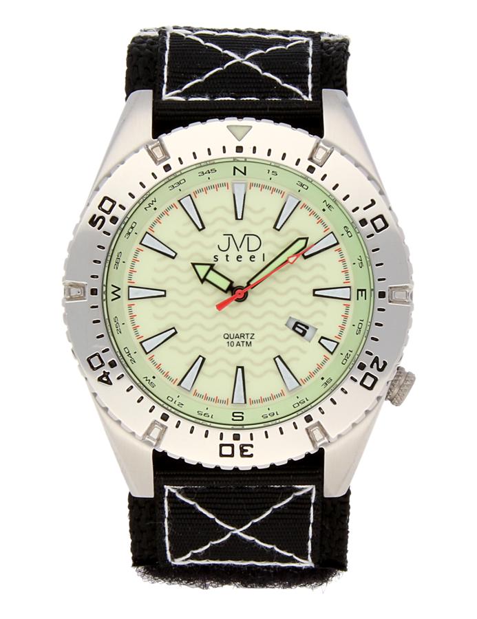 Odlené nerezové pánské vodotěsné hodinky J1008.1 - 10ATM