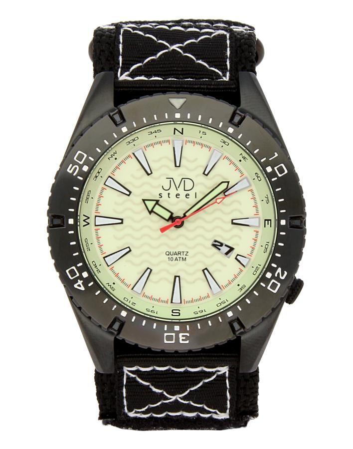 Odlené nerezové pánské vodotěsné hodinky J1008.2 - 10ATM