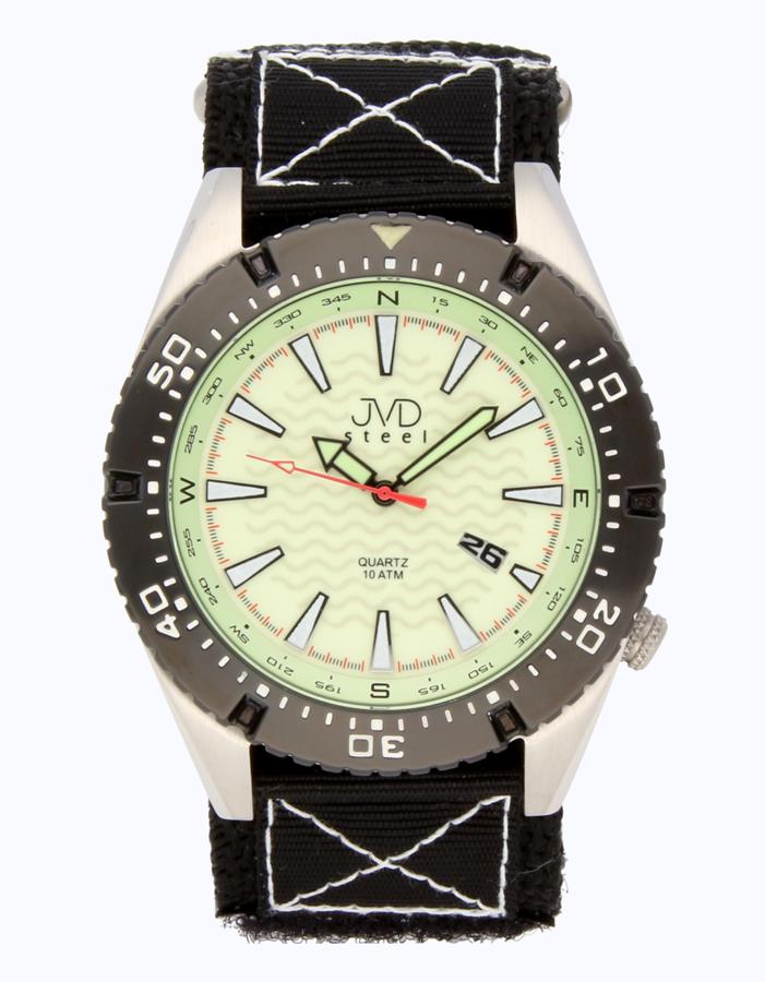 Odlené nerezové pánské vodotěsné hodinky J1008.3 - 10ATM