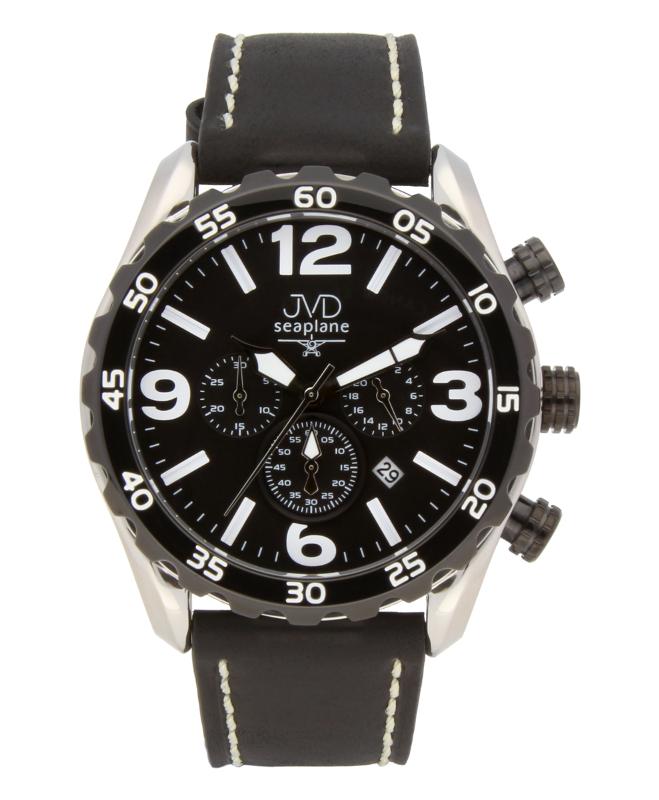 Vodotěsné pánské luxusní chronografy - hodinky JVD Seaplane JA1907.1 - 10ATM