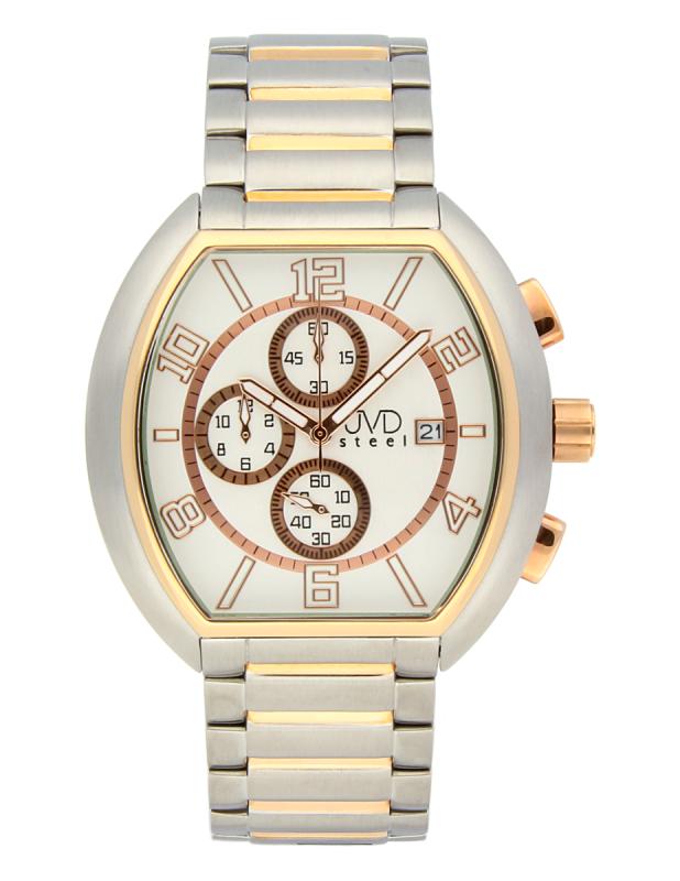 Pánské nerezové nadčasové náramkové hodinky JVDC 745.1 - 5ATM