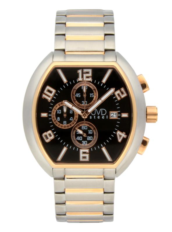 Pánské nerezové nadčasové náramkové hodinky JVDC 745.2 - 5ATM