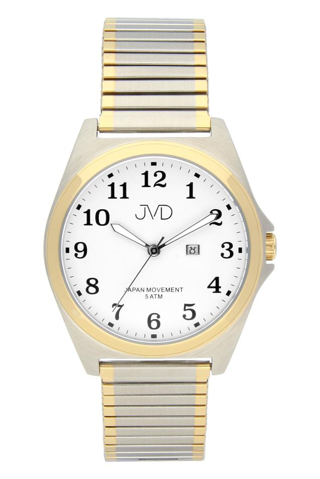 Pánské nerezové voděodolné hodinky J1106.3 na natahovacím pásku IPGold