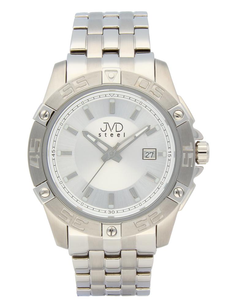 Mohutné vodotěsné ocelové hodinky JVDC 1160.1 - 10ATM