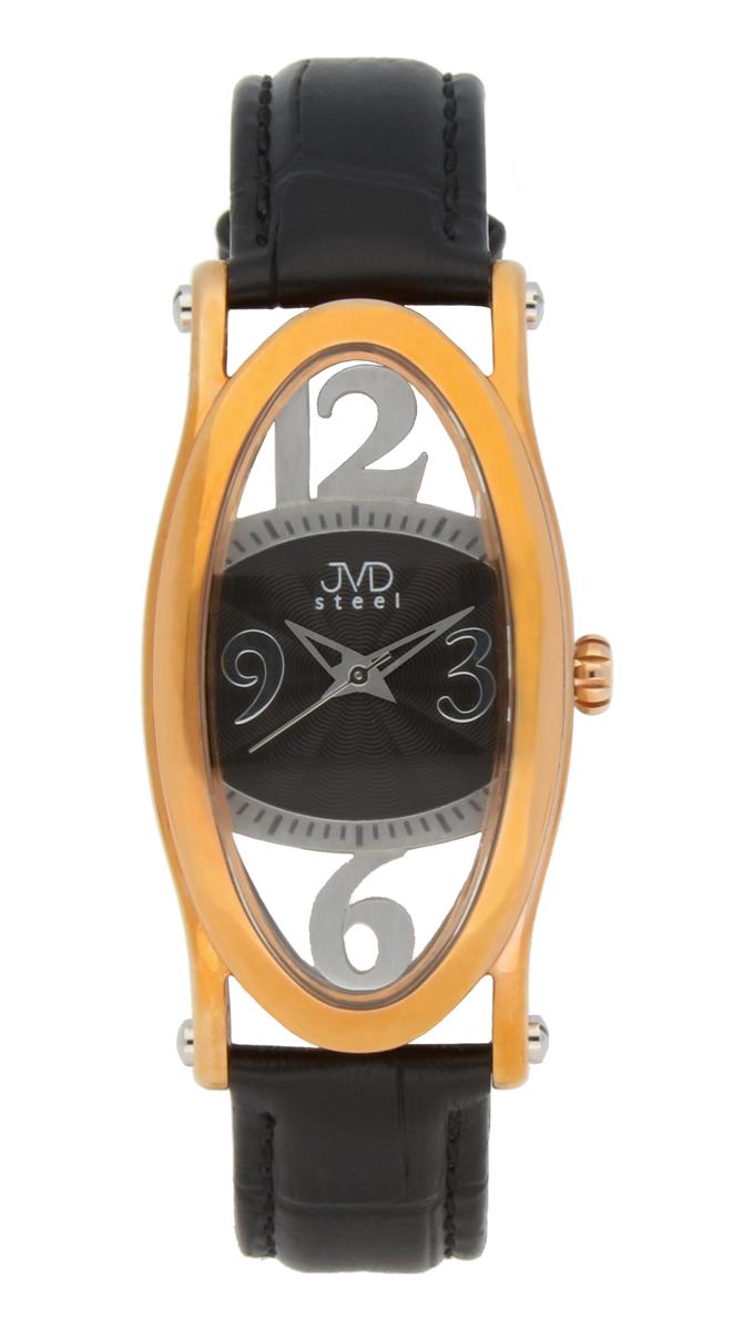 Dámské šperkové ocelové hodinky JVDC 735.2 s průhledným číselníkem