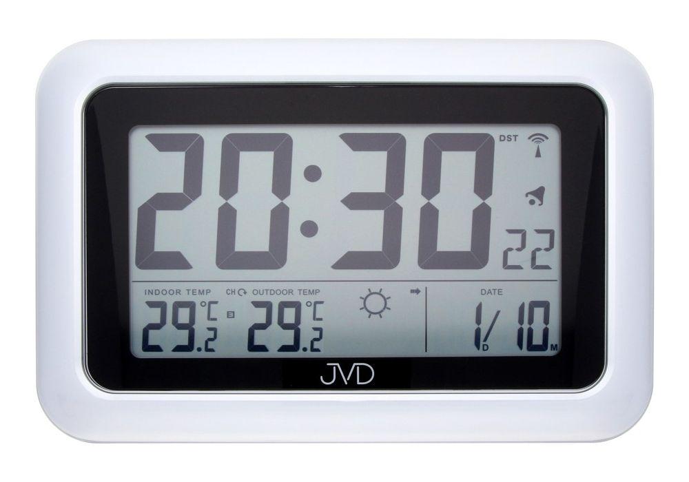 Rádiem řízené digitální hodiny s budíkem JVD RB36.1 a teploměrem