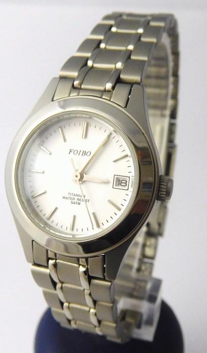 Dámské titanové antialergické kvalitní hodinky Foibos 3423T - 5ATM