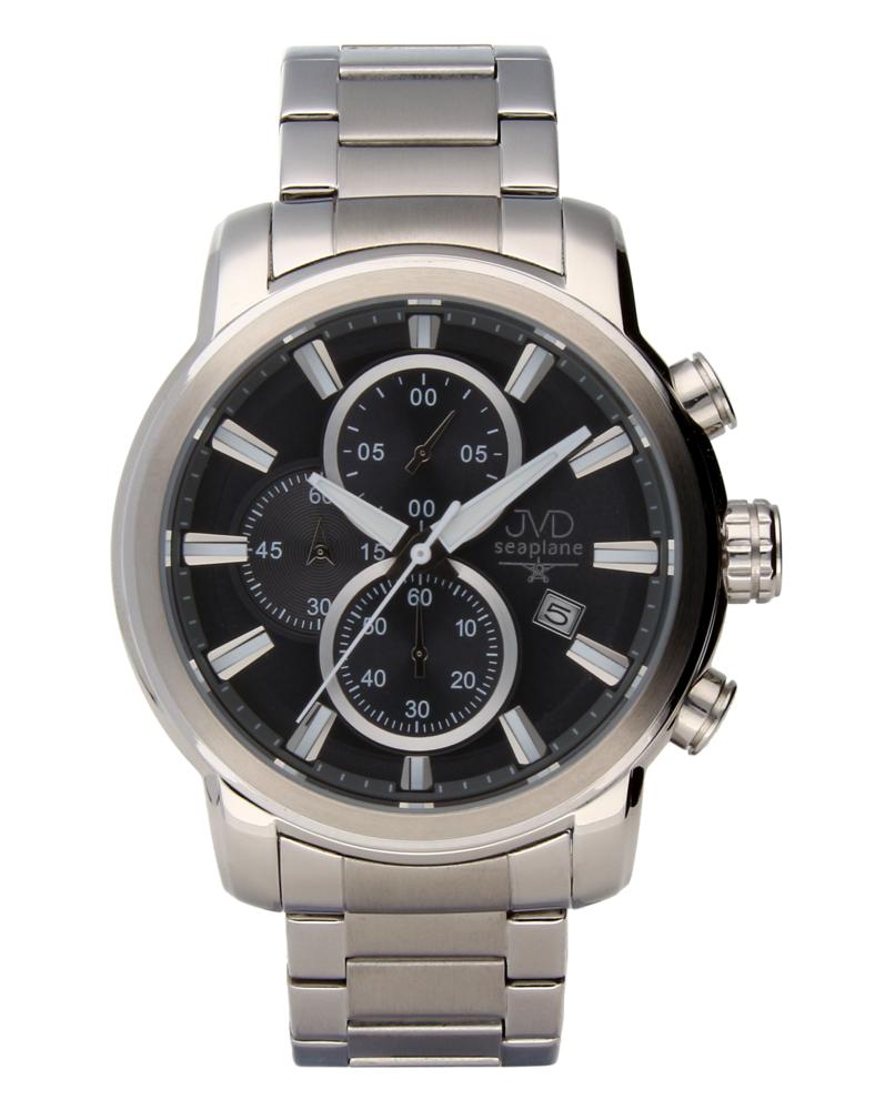 Moderní ocelové vodotěsné hodinky JVDW 34.1 s chronografem