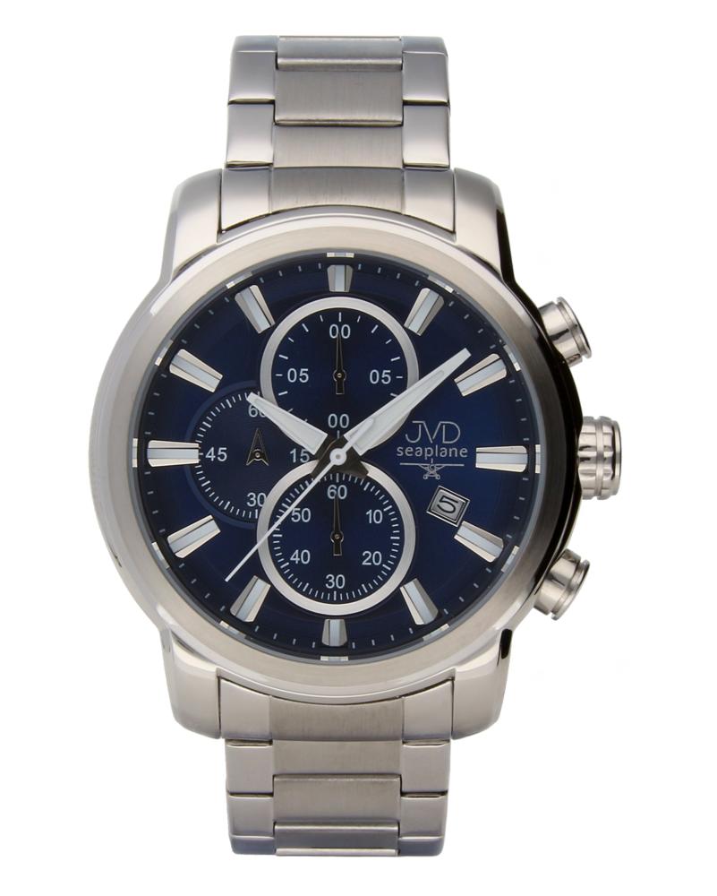 Moderní ocelové vodotěsné hodinky JVDW 34.2 s chronografem