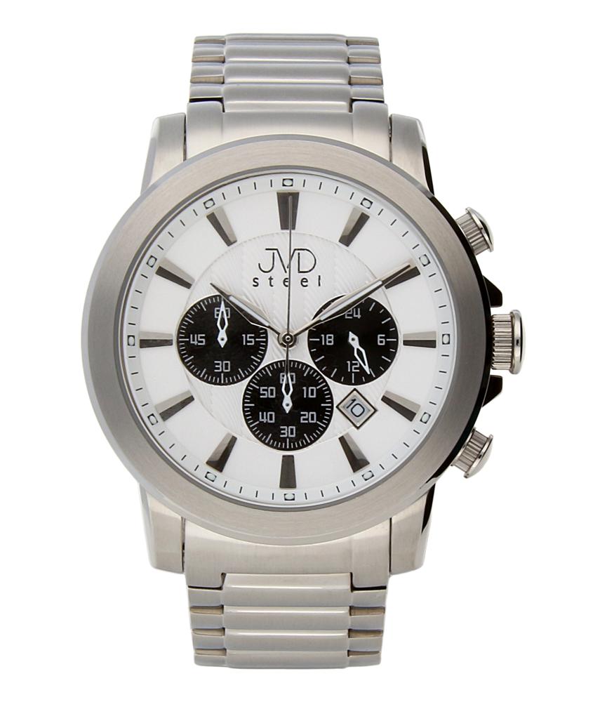 Mohutné ocelové moderní vodotěsné hodinky JVD C725.2 - chronograf 10ATM