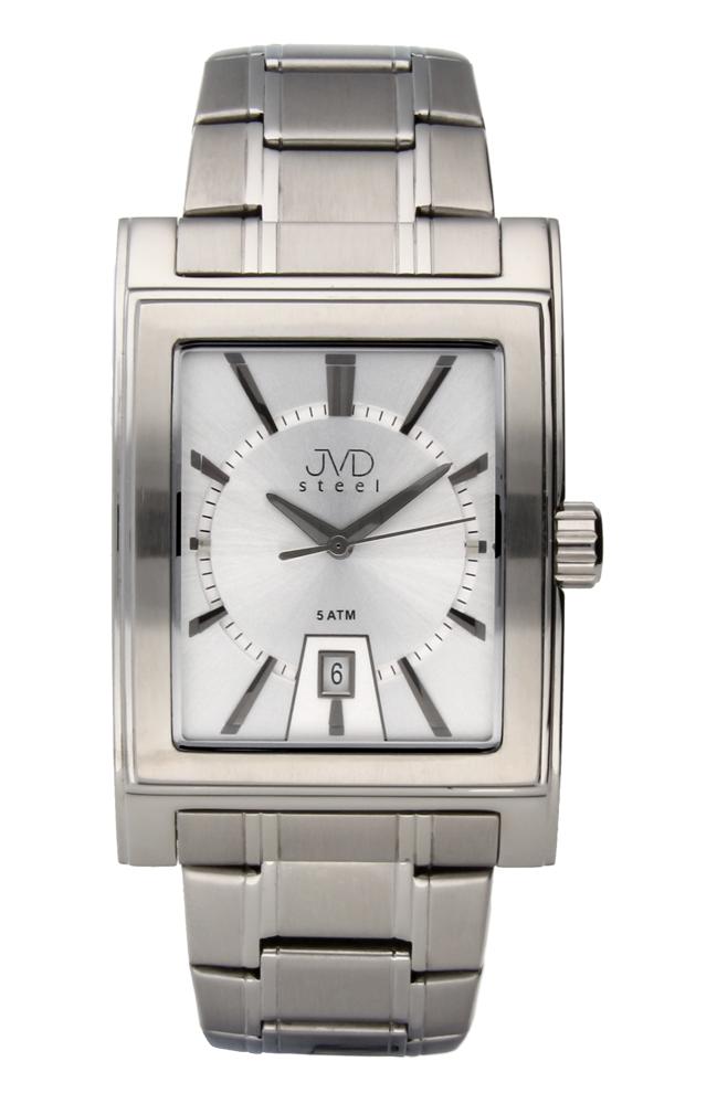 Pánské ocelové hranaté voděodolné hodinky JVDW 01.1
