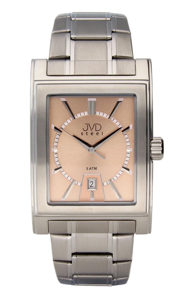Pánské ocelové hranaté voděodolné hodinky JVDW 01.2