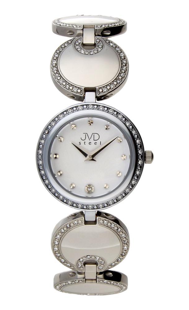 Dámské šperkové ocelové stříbrné hodinky JVD W19.1 - elegance sama :-)