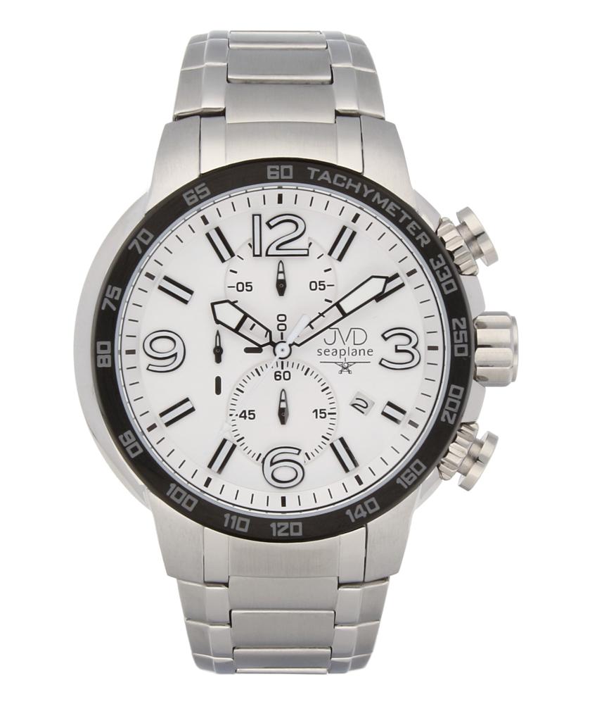 Vysoce odolené sportovné vodotěsné hodinky JVD seaplane W30.2 chronograf