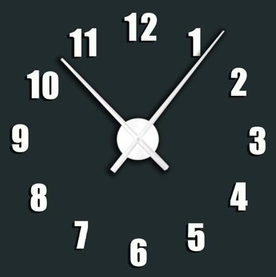 Krasné nalepovací bílé samolepící hodiny Stardeco HM112 - průměr 100cm (Stardeco HM112 )
