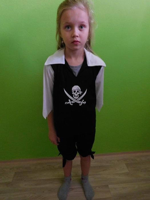 Dětský maškarní kostým pro kluky i holky - Pirát/ka (Cena za půjčovné na 1-3 dny nebo víkend:)