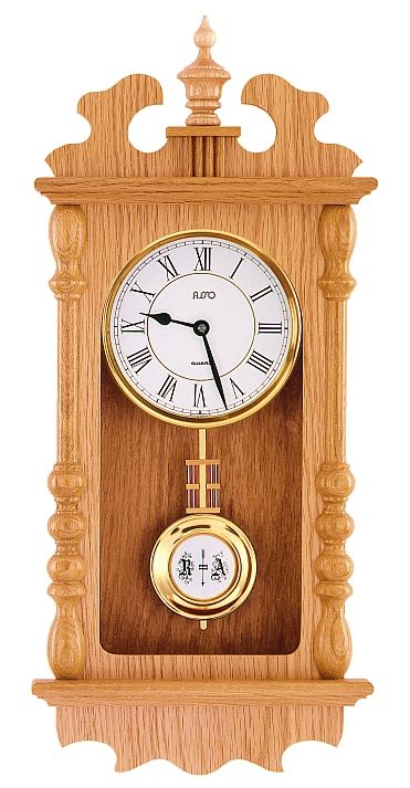 Německé luxusní dřevěné kyvadlové hodiny ASSO ASSO A19/135/6M - pendlovky