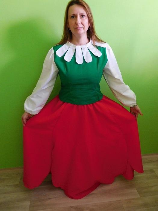 Dámský maškarní kostým Maková panenka (Cena za půjčovné na 1-3 dny nebo víkend:)