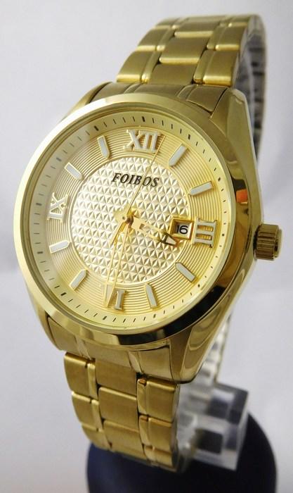 Dámské ocelové pozlacené hodinky Foibos 1Y43.1 s římskými číslicemi (POŠTOVNÉ ZDARMA!!!)
