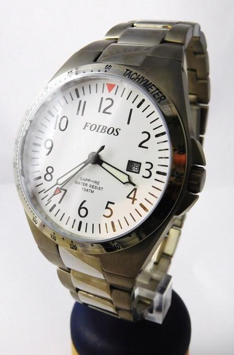 Luxusní pánské titanové antialergické čitelné hodinky Foibos 2358.2 - 10ATM