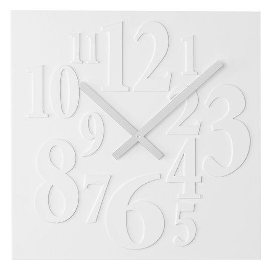 Hranaté bílé designové hodiny JVD basic H52.1
