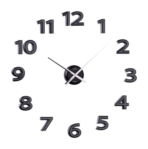 Nalepovací hodiny JVD HB12.1 - černé (Černé exkluzivní luxusní nástěnné nalepovací hodiny JVD HB12.1 )