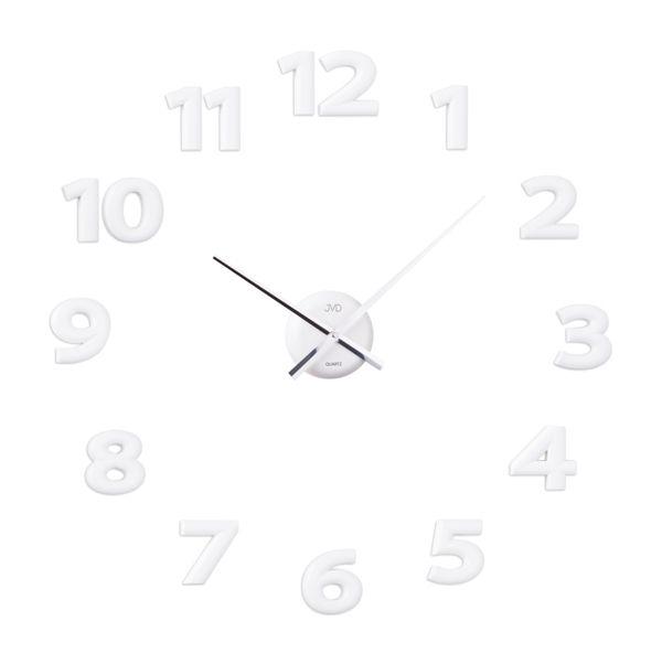 Nalepovací hodiny JVD HB12.2 - bílé (Bílé exkluzivní luxusní nalepovací hodiny JVD HB12.2)