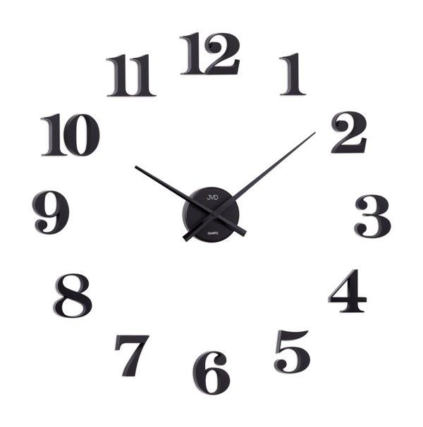 Černé nalepovací samolepicí hodiny JVD HB13.2 s arabskými číslicemi