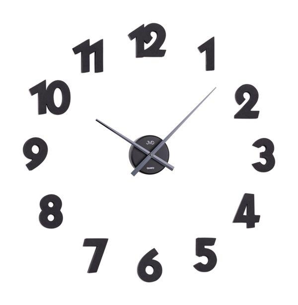 Exkluzivní černé nalepovací hodiny JVD HB25 (arabské číslice) (SKLADEM ODESÍLÁME IHNED!)