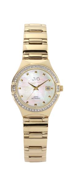 Dámské zlacené šperkové náramkové elegantní hodinky JVD JC159.1