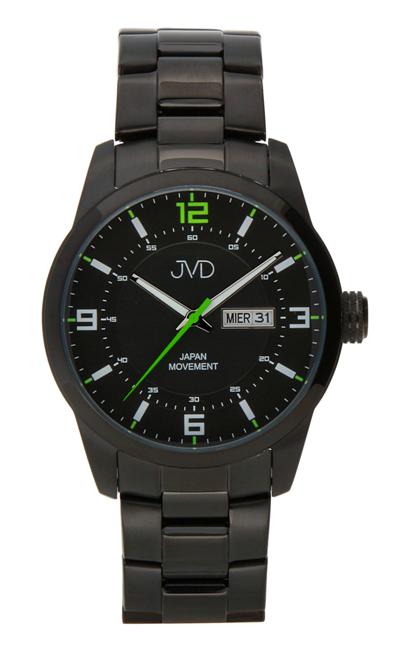Pánské ocelové vodotěsné černé hodinky JVD JC644.2 - 10ATM s datumovkou 15a4f39f6d6