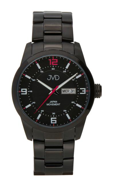 176b6d32af2 Pánské ocelové vodotěsné černé hodinky JVD JC644.3 - 10ATM s datumovkou POŠTOVNÉ  ZDARMA!